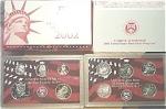 2002-s 90% Silver U.s. Treasury Deep Cameo Gem Proof Set In Original Box With Coa 10 Coins
