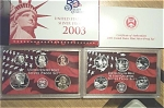 2003-s 90% Silver U.s. Treasury Deep Cameo Gem Proof Set In Original Box With Coa 10 Coins