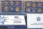 2000-s C/n Clad U.s. Treasury Deep Cameo Gem Proof Set In Original Box With Coa 10 Coins