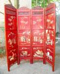 Chinese Four Panel Screen. Early 20th Century