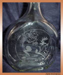 White-tailed Deer Bottle Sand Carved