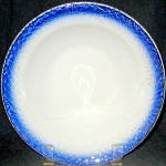 Antique Limoges Us Blue Rim Soup Bowl