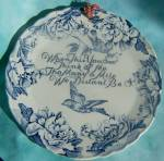 Royal Staffordshire Friendship Plate - Flow Blue