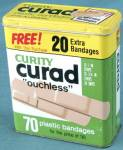 Vintage Curity Curad Plastic Bandages Tin