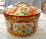 Vintage Gray Dunn Biscuit Tin