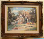 Marty Bell Print Laverstoke Lodge Artist Signed 1993 Double Signed