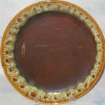 Canonsburg Brown Drip Dinner Plate