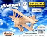 The Nieuport 17 Plane Model Wood Craft Construction Kit