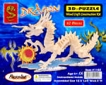 The Dragon Model Wood Craft Construction Kit