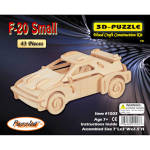 The F20 Small Car Model Wood Craft Construction Kit