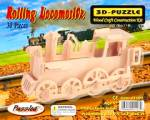 The Rolling Locomotive Train Model Wood Craft Construction Kit