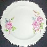 C.c. Thompson Chatham Rose Bread Plate