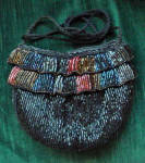 Walborg Black And Colored Beaded Evening Purse