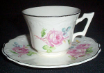 Cc Thompson Chatham Rose Cup And Saucer