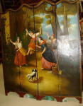 19th Spanish Screen Oil Painted