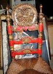 Spanish 19th Century Chair. Polychrome