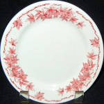 Iroquois Red Maple Leaf Bread Plate