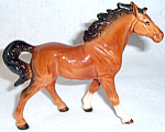 Japanese Brown Horse Figurine