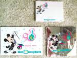 Wdw '20 Magical Years' Postcard, Notepaper And Decal