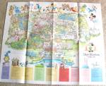 Vintage Wdw Poster Guide Map - 1979