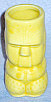 Yellow Ceramic Tiki Shooter