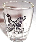 Teal Duck Shotglass