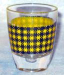 French Black / Yellow Plaid Shotglass