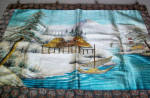 Large And Colorful Vintage Oriental Fabric Wall Hanging