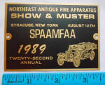 Spaafmaa Convention 1989 Dash Plaque Show And Muster 22
