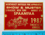 Spaafmaa Convention 1987 Dash Plaque Show And Muster