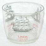 Glass Ice Bucket Sailing Ships