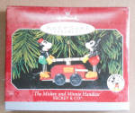 Mickey & Minnie Handcar Train 1998 Hallmark Ornament
