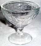 Clear Glass Sherbet With Fruit