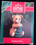 Cinnamon Bear 1991 Hallmark Ornament Fine Porcelain 8th