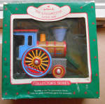 Tin Locomotive 1988 Hallmark Keepsake Ornament Used D