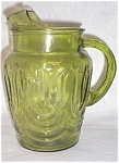 Hocking Colonial Tulip Green Pitcher