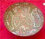 Beautiful Oriental Large Rose Medallion Bowl 10 1/8""