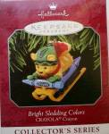 Bright Sledding Colors Crayola Hallmark Ornament Qx6166