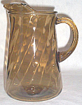 Anchor Hocking Smoke Swirl Pitcher