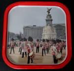 Tin Souvenir Tray Metal Buckingham Palace Bands Queen's Guards 1970s