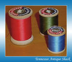 Wood Spool Vintage Mercerized Thread 3 Pc