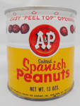 A&p Salted Spanish Peanuts Tin Can Vintage Scratching