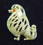 Sarah Coventry Suzette Vintage Stylized Poodle Dog Pin