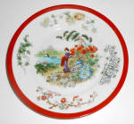 C. Tielsch Germany China Oriental Woman Gardening Plate