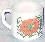 Federal Orange Poppy Mug