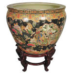 Gorgeous Geisha Fish Bowl,21'' X 16''h.