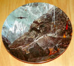 Collector Plate Lord Of The Rings Foot Of Mount Doom