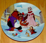 Disney Collector Plate Beauty Beast Warming Up