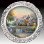 Collector Plate Thomas Kinkade Cobblestone Bridge