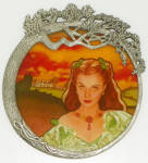 Gone With The Wind Stained Glass Collection 1st Iss Scarlett Radiance